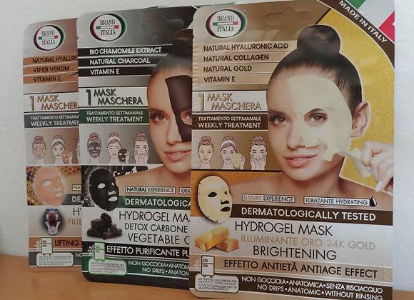 Maschere viso intere. Trattamento settimanale