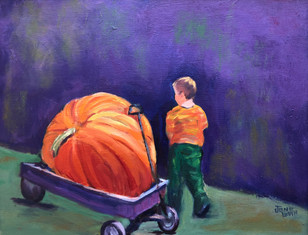 The Boy and his Pumpkin