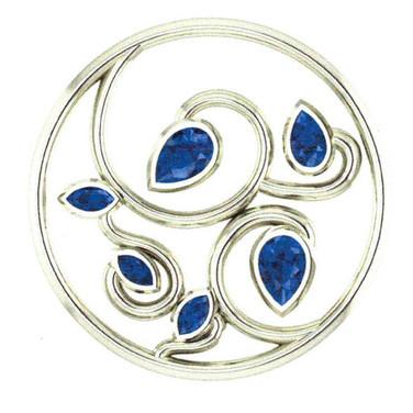 Pear Sapphire Tree Pendant
