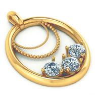 Vintage-inspired 3-Diamond Pendant