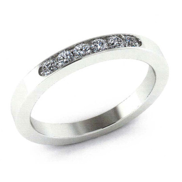 Men's Diamond Channel Wedding Band