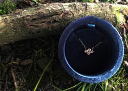 Tiny Diamond Bezel Pendant