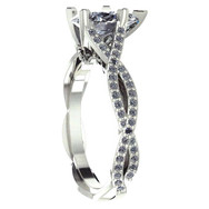Pear Diamond Twisted Engagement Ring