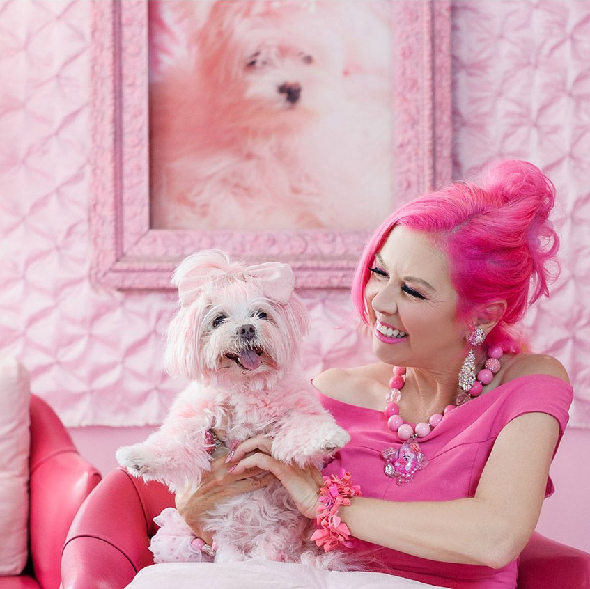 The Pink Lady of Hollywood with Miss Kisses in Joybird_