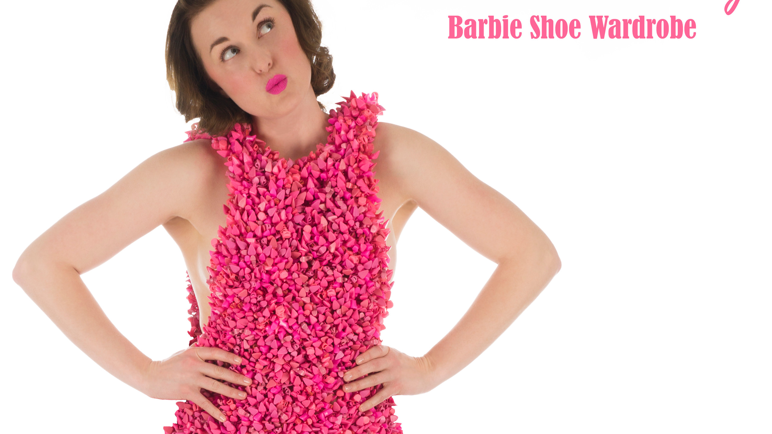 Bubble Gum Pink Barbie Shoe Mini