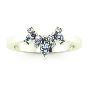 Marquise and Round Diamond Tracer Band
