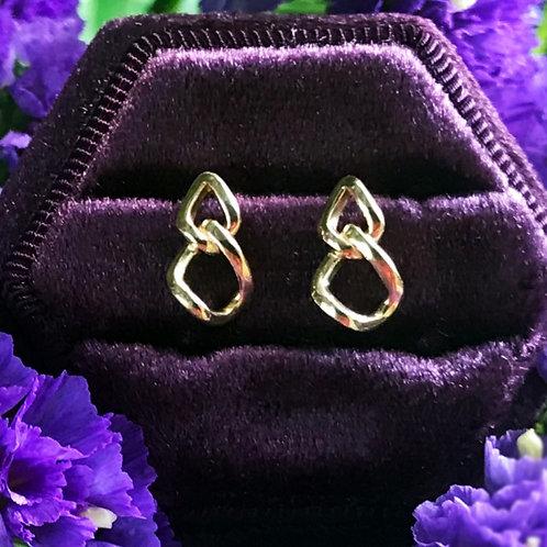 14K Gold Curb Chain Earrings