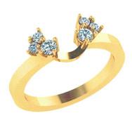 Diamond Cluster Ring Guard Wedding Band