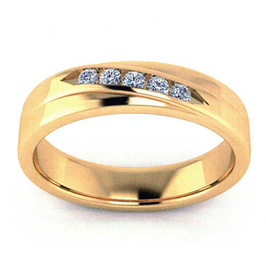 Men's Traditional Diamond Channel Wedding Band