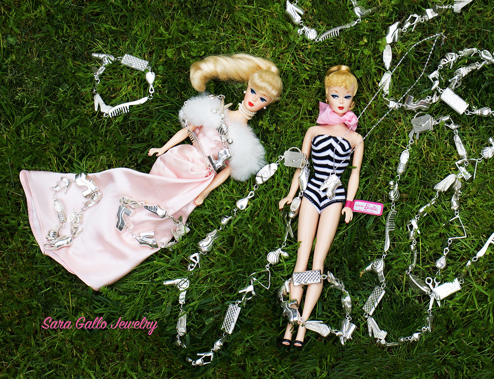 Sara Gallo Jewelry Sterling Silver Barbie Shoes and Accessories Necklaces and Bracelets