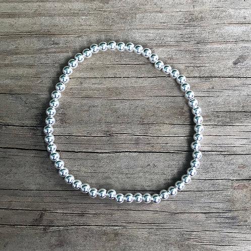 Sterling Silver Stacking Bead Bracelet