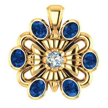 Vintage-style Heirloom Gemstone Pendant