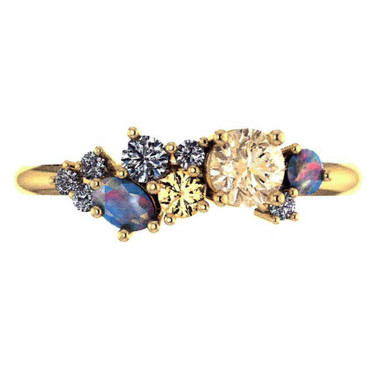 Mixed Gemstone Fashion Ring
