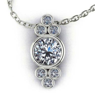 Antique-style Diamond Pendant