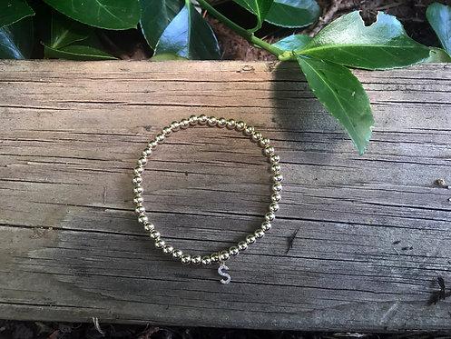 Love Letter Bracelet with 14K Gold Beads