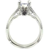 Peek-a-Boo Rose Diamond Engagement Ring