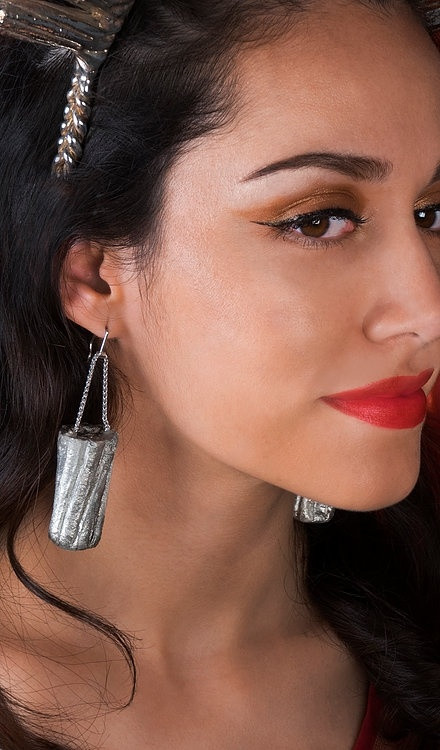 Sara Gallo's Tampon Earrings in Cosmopolitan Magazine