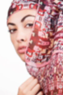 Silk-chiffon scarf Miranda