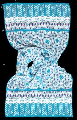 Silk chiffon scarf Dorota