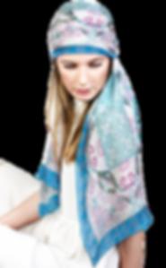 Silk-chiffon scarf Aquarius