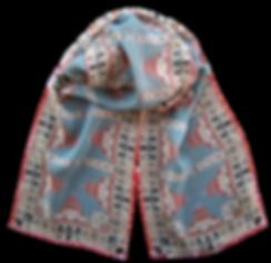 Long silk chiffon scarf Korca