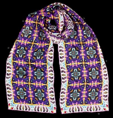 Silk-chiffon scarf Lavender