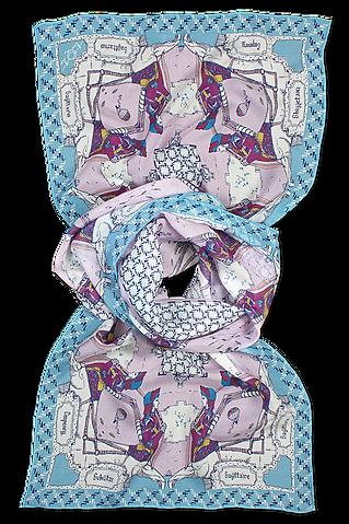 silk chiffon scarf Sagittarius