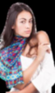 Silk chiffon scarf Tirana Tango