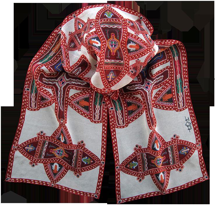 Silk chiffon scarf Mirdita