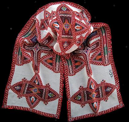 Long silk chiffon scarf Mirdita