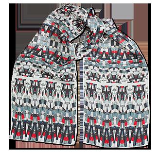 Silk chiffon scarf Classic Match