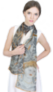 Silk-chiffon scarf The Beauty of Durres