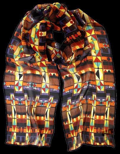 Silk-chiffon scarf Diamonds
