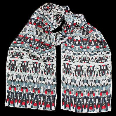 Silk-chiffon scarf Classic Match