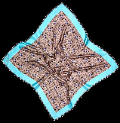 Silk satin scarf Blue Eyes