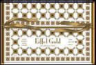 Gift envelope for silk satin scarf  Eiffel Gold