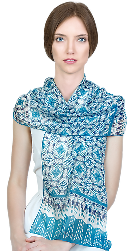 Long silk chiffon scarf Dorota