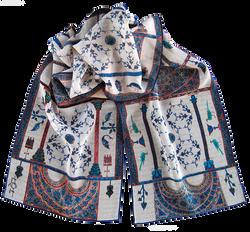 Silk chiffon scarf Berat Codex