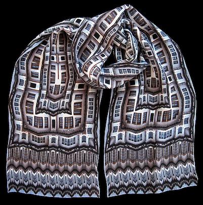 Silk-chiffon scarf Berat
