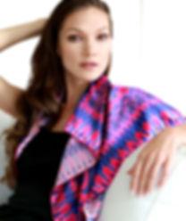 Silk satin scarf Hearts