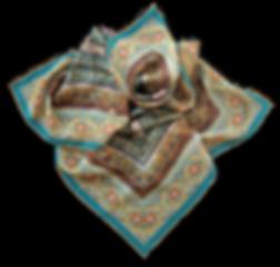Silk chiffon scarf Wat Pho Yellow