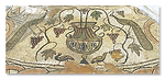 Mosaics in Butrint baptistery 6th A.D.