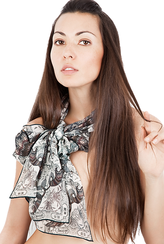silk chiffon scarf Capricorn
