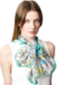 silk chiffon scarf Gemini