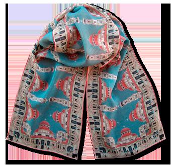 Silk chiffon scarf Korca