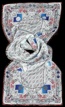 Silk chiffon scarf Cancer