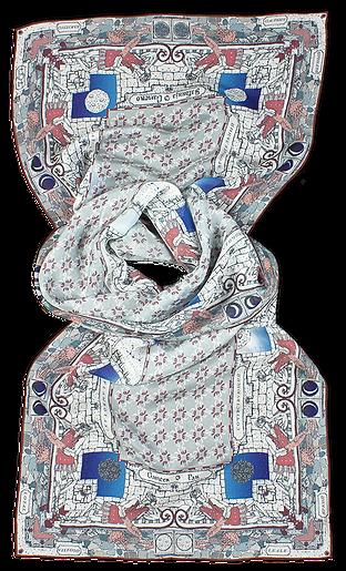Silk-chiffon scarf Cancer