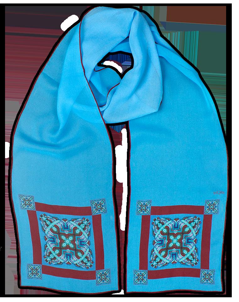 Silk chiffon scarf Sigma Ends