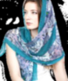 Silk-chiffon scarf Pisces
