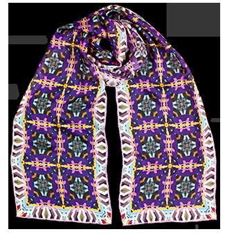Silk chiffon scarf Lavender